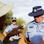 Shire Councillor, Elsta Foy, talking to Police. MURRANJI PHOTOGRAPHY 2011