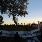 John Butler surveys the scene at first light on day 11 of the protest blockade