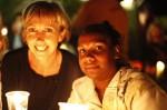 ladies at candlelight vigil