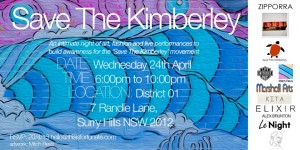 Karen Fulton 'Save the Kimberley' invite