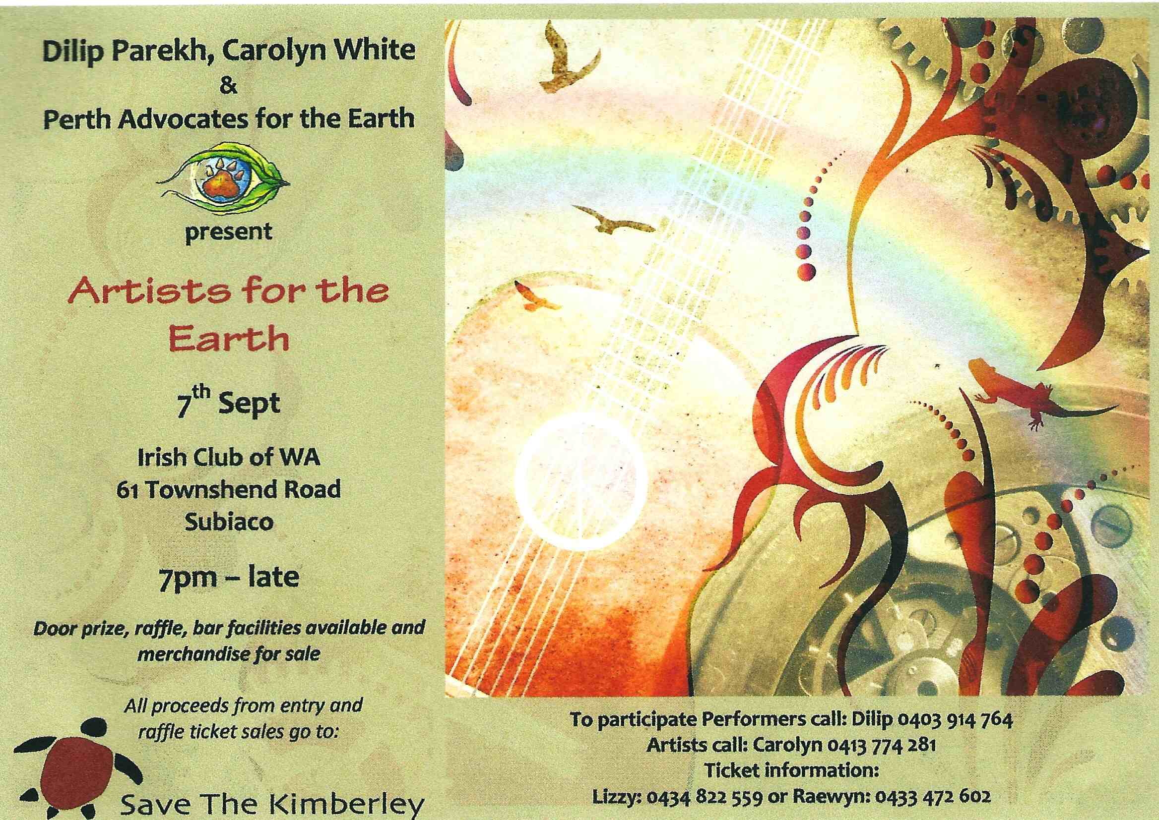 Perth Advocates for the Earth event flyer