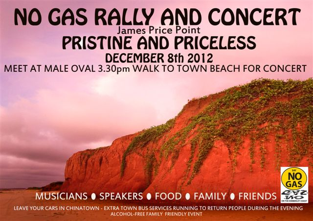 No Gas Rally Flier for Dec 8, 2012